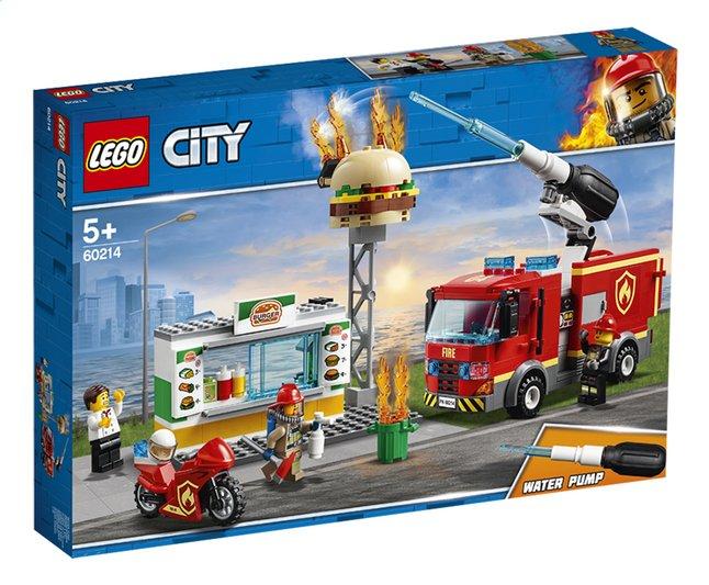 Afbeelding van LEGO City 60214 Brand bij het hamburgerrestaurant from DreamLand