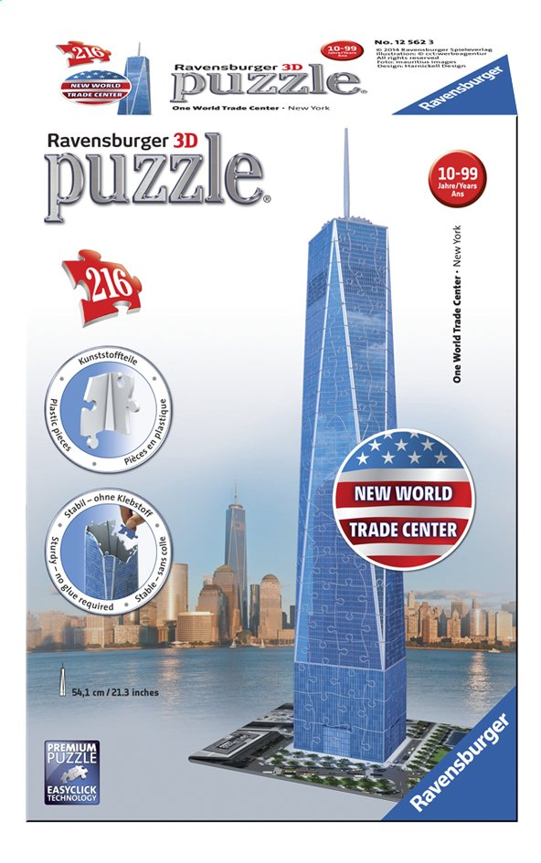 Afbeelding van Ravensburger 3D-puzzel One World Trade Center from DreamLand