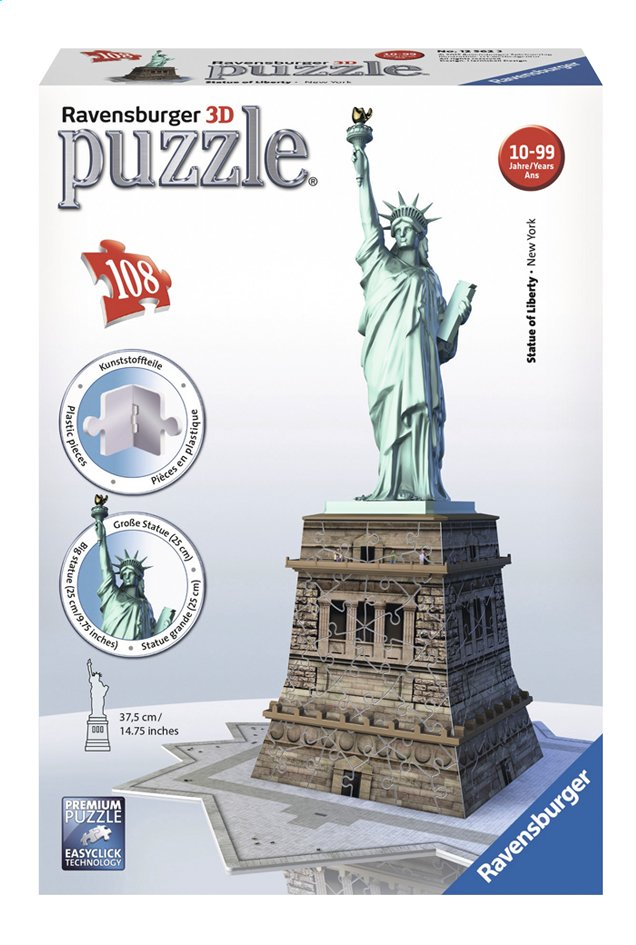 Afbeelding van Ravensburger 3D-puzzel Statue of Liberty from DreamLand