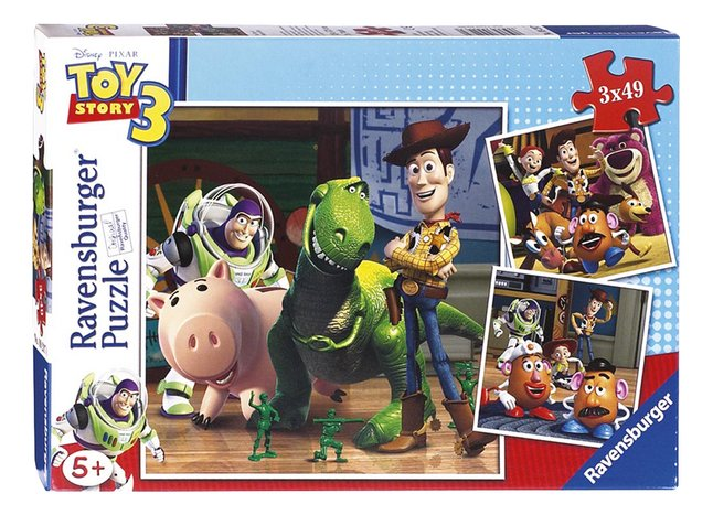 Afbeelding van Ravensburger puzzel 3-in-1 Toy Story 3: Woody & Rex from DreamLand