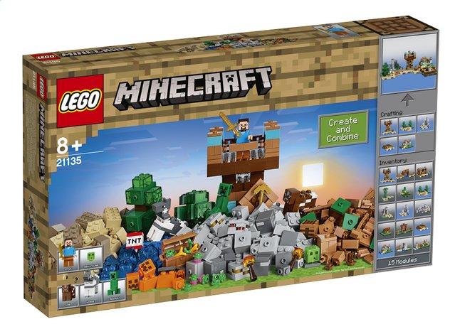 Lego minecraft 21135 la bo te de construction 2 0 dreamland for Toys r us crafts
