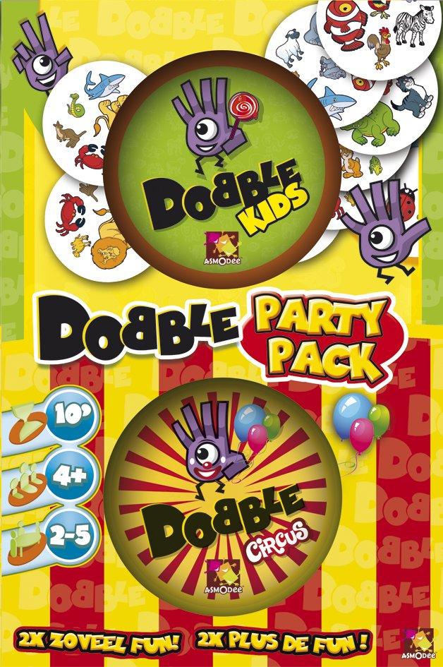 Dobble Party Pack Asmodee : King Jouet, Jeux de cartes Asmodee  Jeux de
