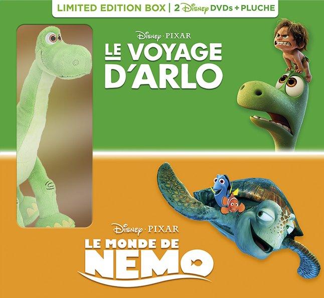 Image pour DVD Le Voyage d'Arlo + Le Monde de Nemo + peluche à partir de DreamLand