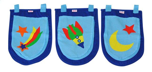 Vipack poches de rangement Astronaute pour lit mi-hauteur Pino
