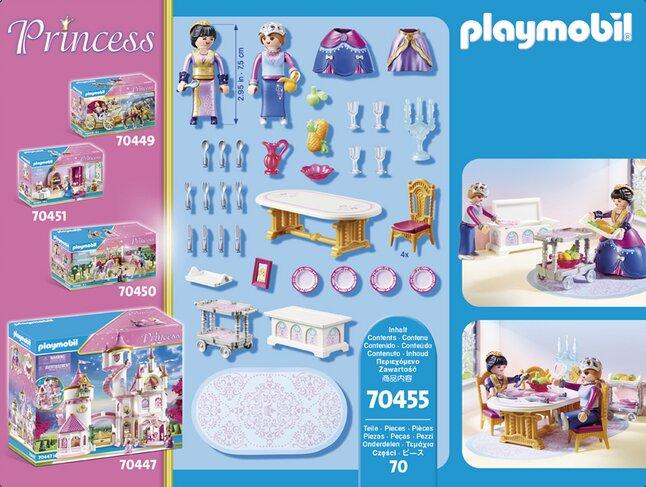 playmobil princess 70455 salle a manger royale