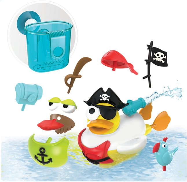 Afbeelding van Yookidoo badspeelgoed Jet Duck Create a Pirate from DreamLand