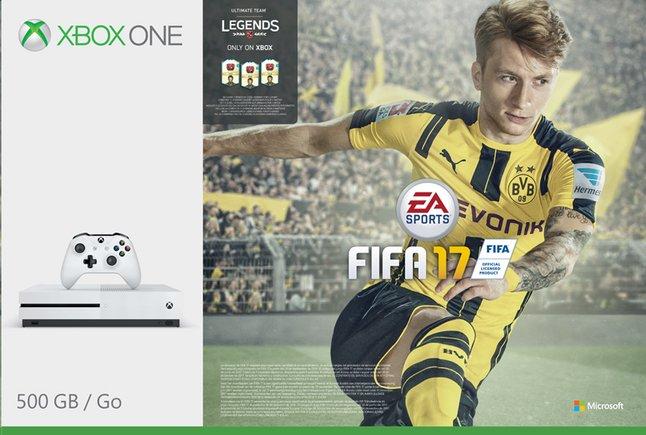 Afbeelding van XBOX One S 500 GB + Fifa 17 met Fifa Legends from DreamLand