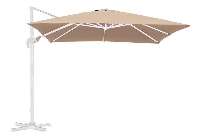 Image pour Parasol suspendu aluminium 3 x 3 m sable avec mât blanc à partir de DreamLand