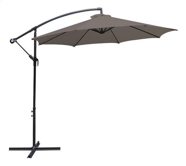 Parasol suspendu métal Ø 3 m taupe