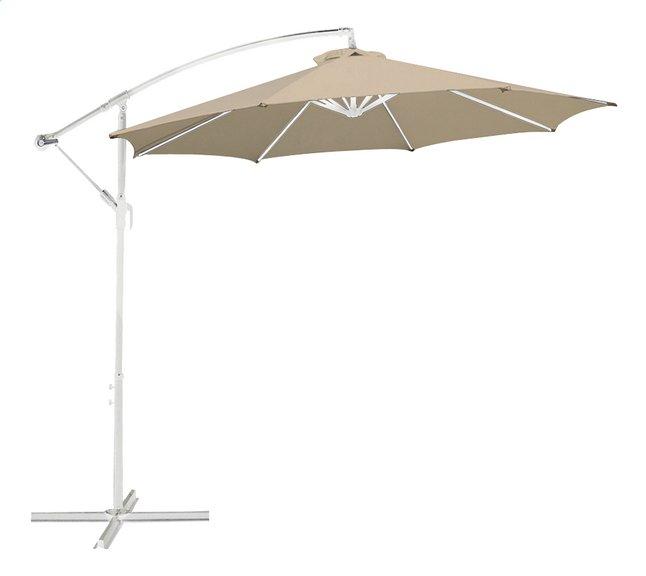 Image pour Parasol suspendu métal Ø 3 m sable avec mât blanc à partir de DreamLand