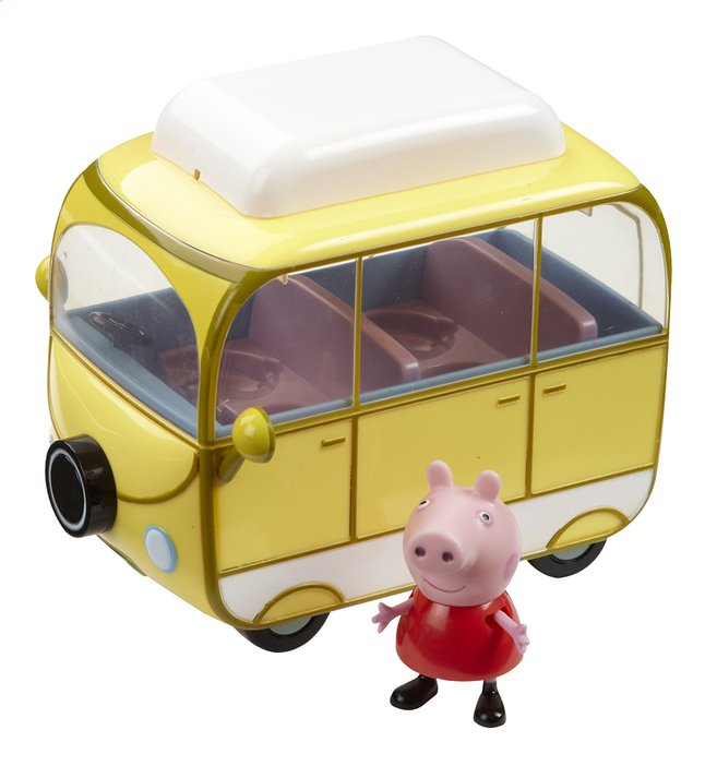 speelset peppa pig campingcar met figuur dreamland. Black Bedroom Furniture Sets. Home Design Ideas