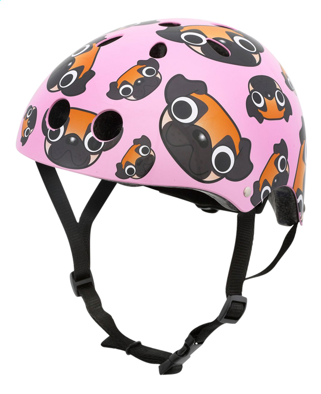 Mini Hornit kinderfietshelm Lids Pug Puppies Pink