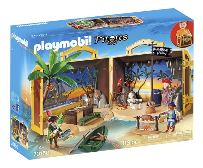 Image pour PLAYMOBIL Pirates 70150 Coffre des pirates transportable à partir de DreamLand