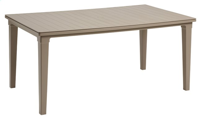 Keter Allibert table de jardin Futura cappuccino 165 x 94 cm