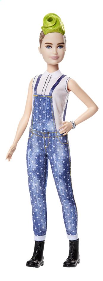Barbie poupée mannequin  Fashionistas Petite 124 - Denim and Dots