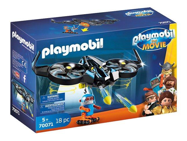 PLAYMOBIL The Movie 70071 Robotitron avec drone