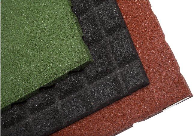Afbeelding van 4 rubbertegels groen from DreamLand