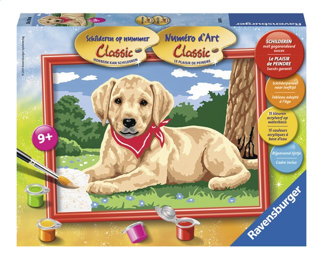 Image pour Ravensburger Numéro d'art Adorable Labrador à partir de DreamLand
