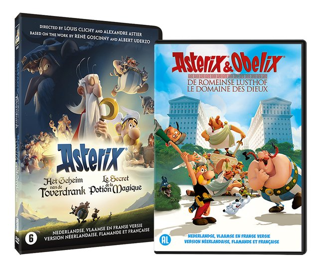 Afbeelding van 2 Dvd's Asterix: Het Geheim van de Toverdrank & De Romeinse Lusthof from DreamLand