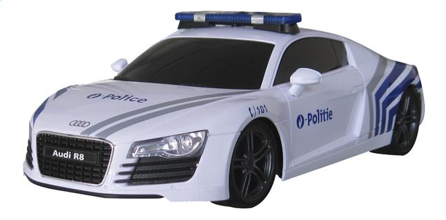 xq auto rc audi r8 belgische politie dreamland. Black Bedroom Furniture Sets. Home Design Ideas