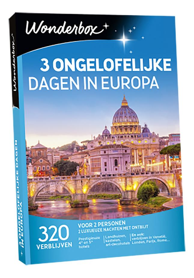 Afbeelding van Wonderbox 3 Ongelofelijke Dagen in Europa from DreamLand