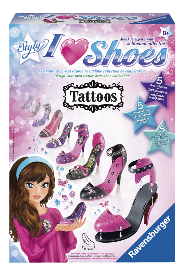 Afbeelding van Ravensburger So Styly I Love Shoes Tattoos from DreamLand
