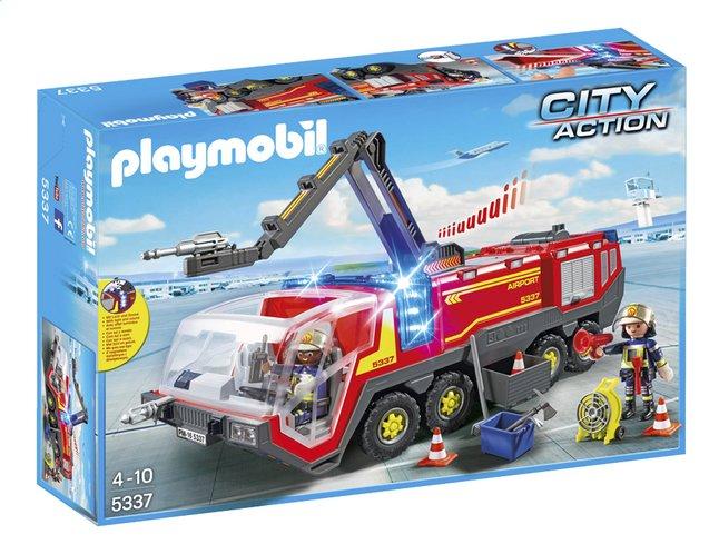 Image pour Playmobil City Action 5337 Pompiers avec véhicule aéroportuaire à partir de DreamLand