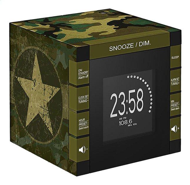 Afbeelding van bigben Wekkerradio met projectie RR70 Army camouflage from DreamLand