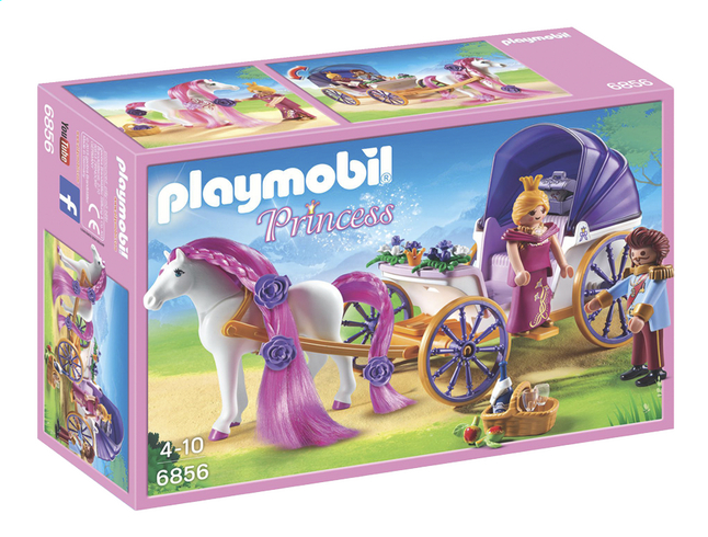 playmobil princess 6856 calche royale avec cheval coiffer