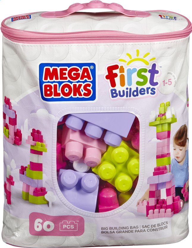 Afbeelding van Mega Bloks First Builders Big Building Bag roze from DreamLand