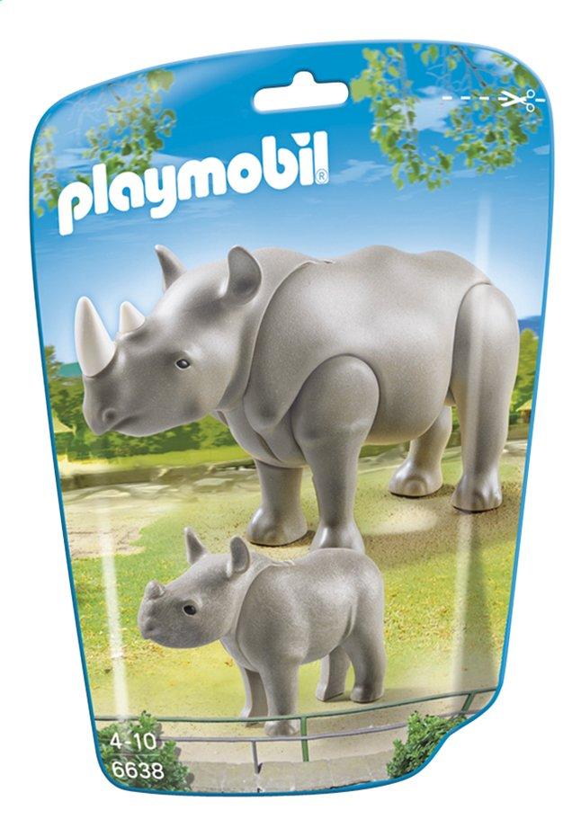 Afbeelding van Playmobil City Life 6638 Neushoorn met baby from DreamLand