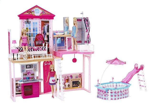 Afbeelding van Barbie speelset Huis met 3 poppen from DreamLand