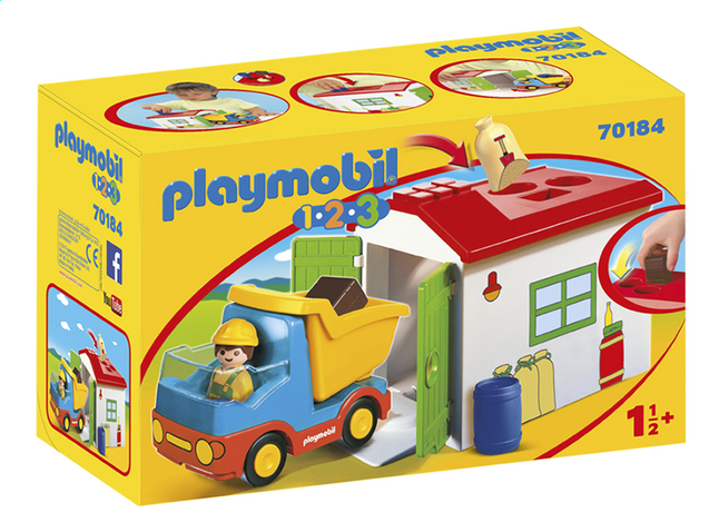 Garage Et 1 2 Camion Playmobil Avec 70184 Ouvrier 3 kXn0wO8PN