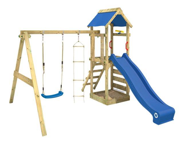 Image pour Wickey portique FreeFlyer avec toboggan bleu à partir de DreamLand
