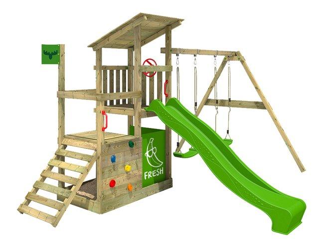 Image pour Fatmoose portique Fruity Forest Fun XXL avec tobbogan vert à partir de DreamLand