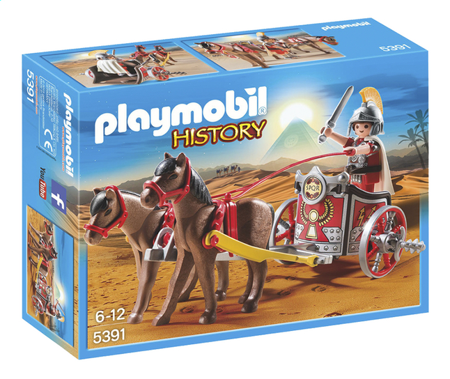 Afbeelding van Playmobil History 5391 Romeinse strijdwagen met tribuun from DreamLand