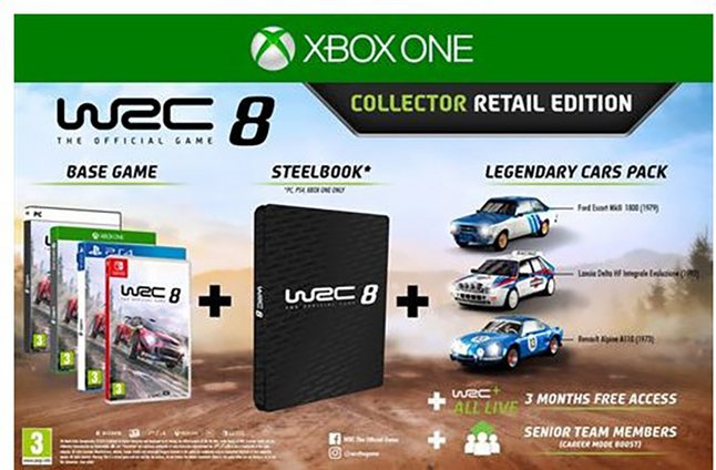 Xbox One WRC 8 Collector Retail Edition FR/ANG