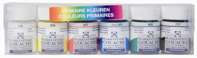 Afbeelding van Talens plakkaatverf primaire kleuren - 6 stuks from DreamLand