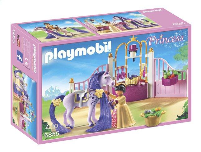 Afbeelding van PLAYMOBIL Princess 6855 Koninklijke stal met paard om te kammen from DreamLand