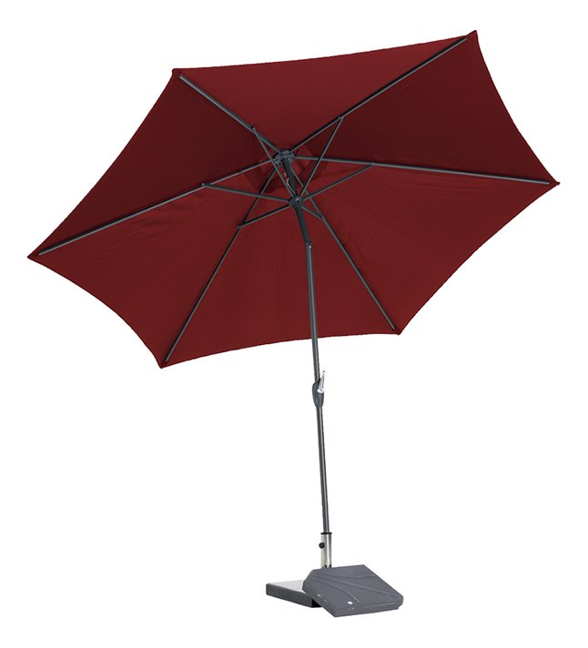 Afbeelding van Aluminium parasol diameter 3,5 m bordeaux from DreamLand