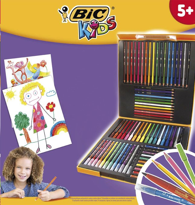 Afbeelding van Bic kleurset Coloring Box - 70 stuks from DreamLand