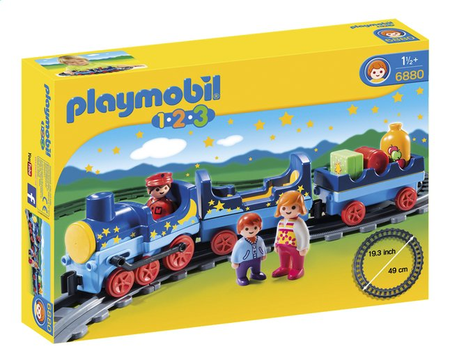 Image pour Playmobil 1.2.3 6880 Train étoilé avec passagers et rails à partir de DreamLand