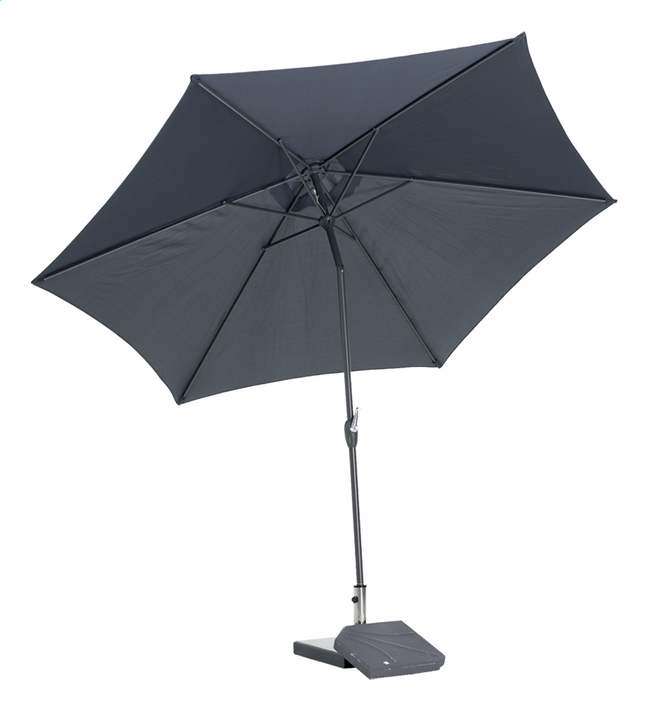 Afbeelding van Aluminium parasol Ø 3 m grijs from DreamLand