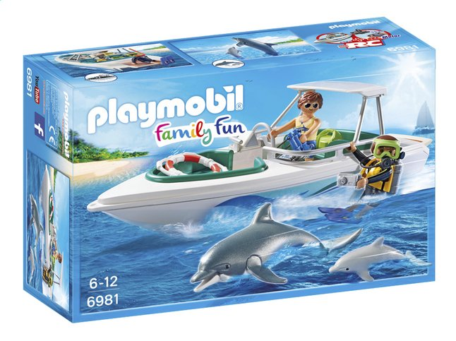 Afbeelding van Playmobil Family Fun 6981 Duiktrip met plezierboot from DreamLand