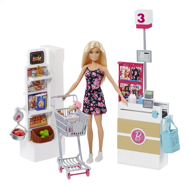 Barbie speelset Supermarkt