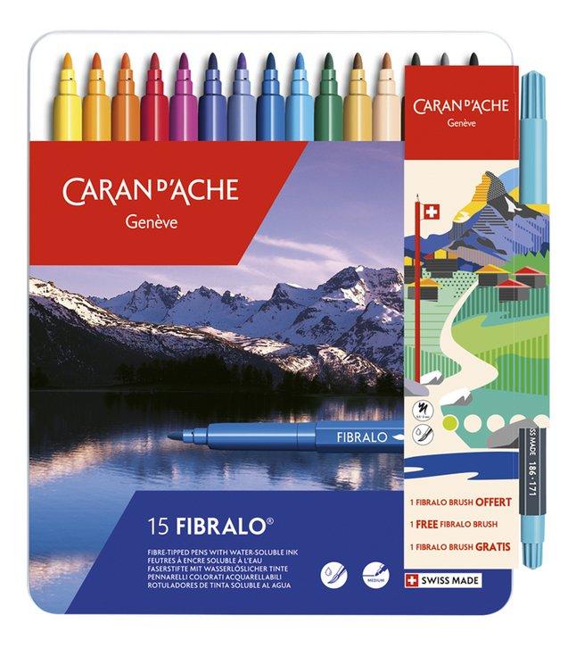 Afbeelding van Caran d'Ache viltstift Fibralo - 16 stuks from DreamLand