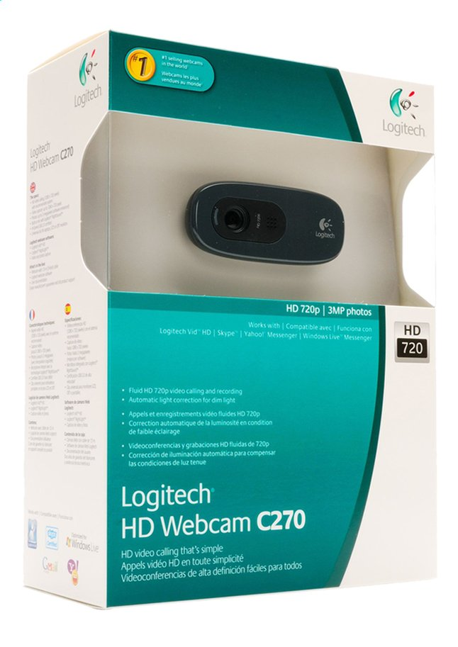 Afbeelding van Logitech webcam C270 HD from DreamLand
