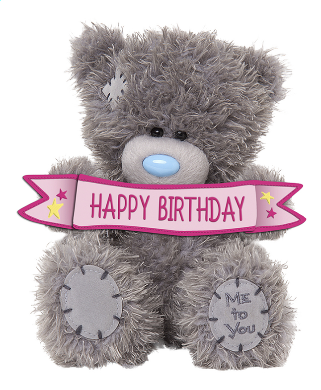 Afbeelding van Me to You knuffel Happy Birthday 13 cm from DreamLand
