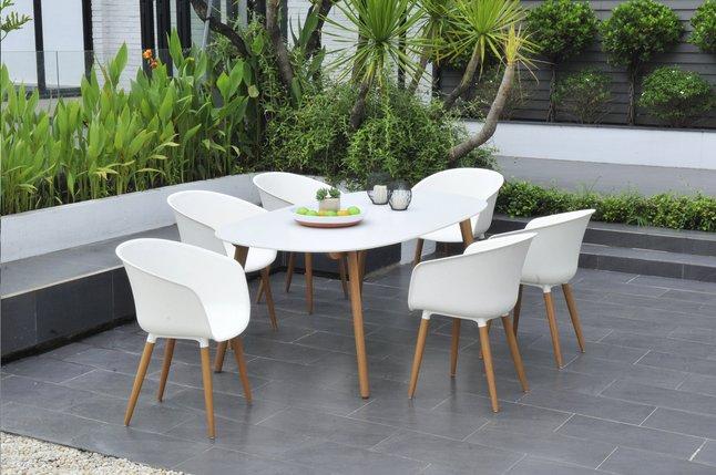 Lg X Cm Jardin 105 L 190 Montreux Table De Blanc edCrxBoW