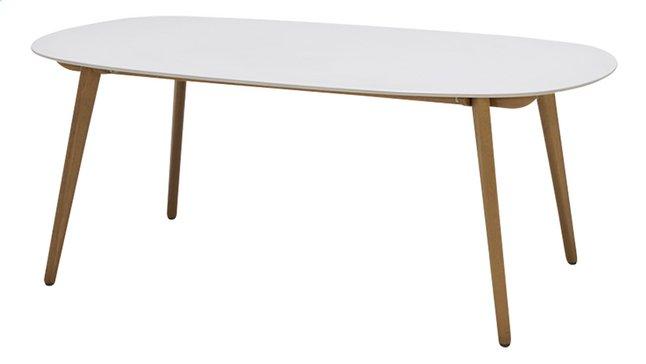 Table de jardin Montreux blanc L 190 x Lg 105 cm | DreamLand